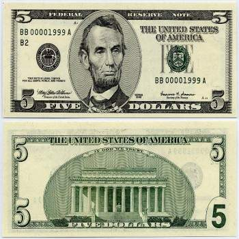 Buy USD 5 Bills Online